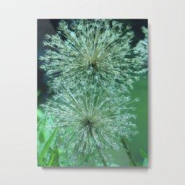 Green Flowers Metal Print