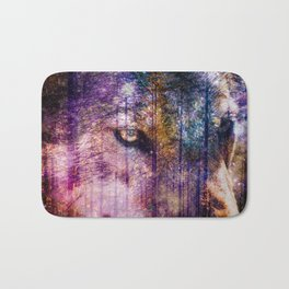 Wolf Forest : These Are My Forests Bath Mat