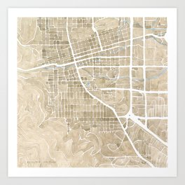 Boulder Colorado Watercolor Map Art Print