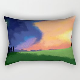 People Going to the Cross Rectangular Pillow