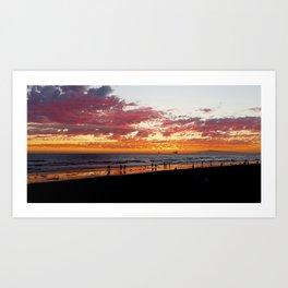 Sunset @ Dog Beach  ( 9/7/13 ) Art Print