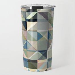 Abstract Earth Tone Grid Travel Mug