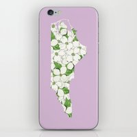 north carolina iPhone & iPod Skins featuring North Carolina in Flowers by Ursula Rodgers