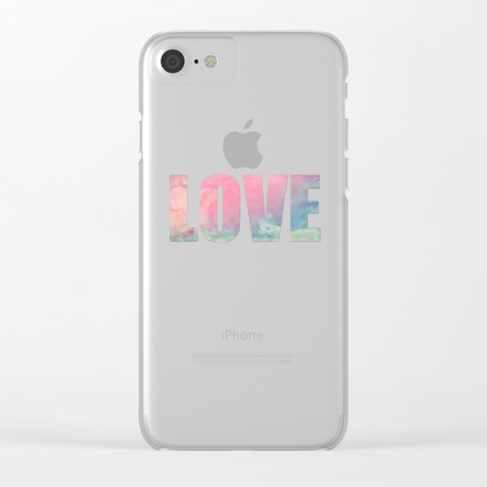 Rose and Serenity Clear iPhone Case