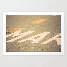 Mar Route Art Print