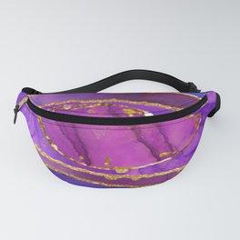 Luxury Purple Agate Fanny Pack