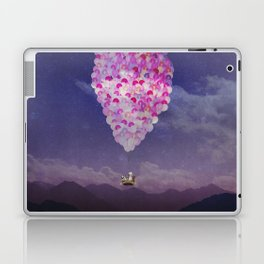NEVER STOP EXPLORING IV PINK BALLOONS Laptop & iPad Skin
