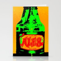 ale giorgini Stationery Cards featuring Ale-8-One (Bottle) by Silvio Ledbetter
