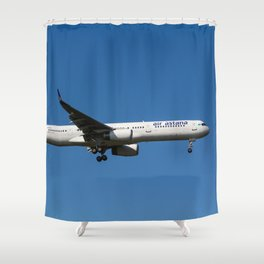 Air Astana Boeing 757 Shower Curtain