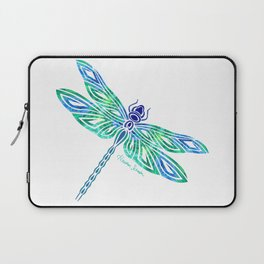 Tribal Dragonfly Blues and Greens Laptop Sleeve