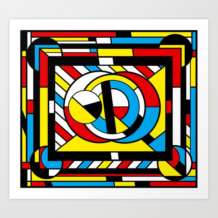 Neoplastimajig - Abstract Geometric Art Art Print