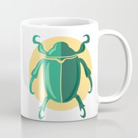 beetle Mugs featuring beetle by Cardinal Design