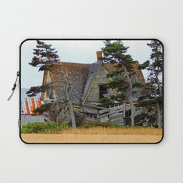 Abandoned Collapsing Homestead Laptop Sleeve