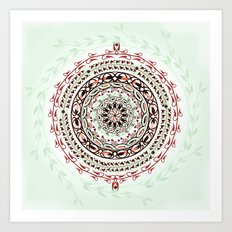 Garden Gemstone Mandala Art Print