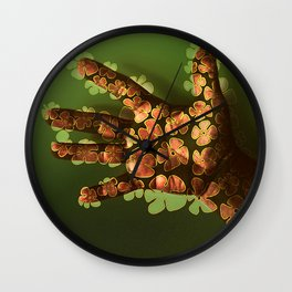 Handful Hand Full of Flowers - Drawing on Photo Wall Clock
