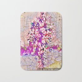 Stained Glass Flowers Bath Mat