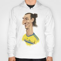 zlatan Hoodies featuring Ibrahimovic - Sweden by Sant Toscanni