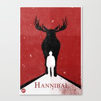 hannibal Canvas Prints featuring Hannibal by Alex Santaló