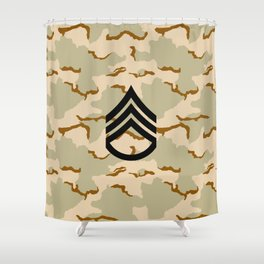 Staff Sergeant (Desert Camo) Shower Curtain