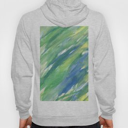 Blue green yellow watercolor hand painted brushstrokes Hoody