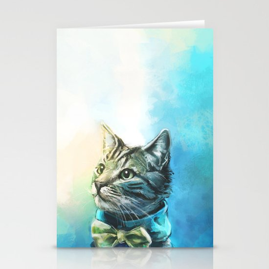 Handsome Cat Stationery Cards