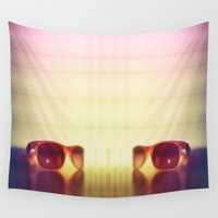 sunglasses Wall Tapestries featuring Sunglasses by Marko