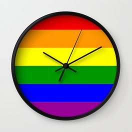 LGBT Gay Pride Flag Wall Clock