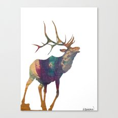 Elk Silhouette Canvas Print