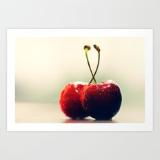 Gourmet cherry Art Print
