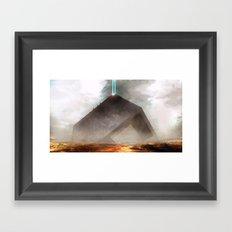 Future Desert Vessel Framed Art Print