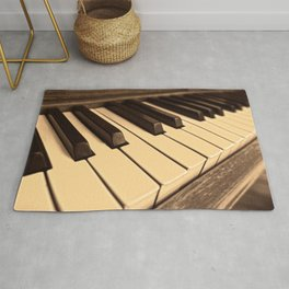 Old Wooden Piano Rug