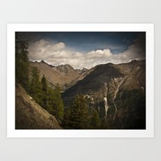 Roaming the mountains Art Print