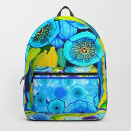 Field of Poppies with Border All Around Belize Backpack