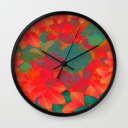"""Intense Pastel Hydrangeas-Passion"" Wall Clock"