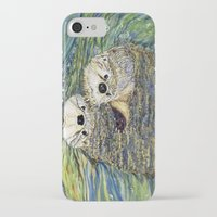 otters iPhone & iPod Cases featuring Pair of Otters by Sandra Dean Wilson
