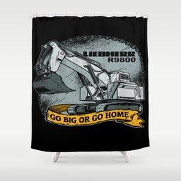 excavator liebherr r9800 Shower Curtain