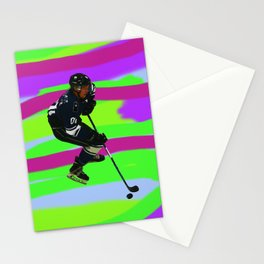 Taking Control- Ice Hockey Player & Puck Stationery Cards