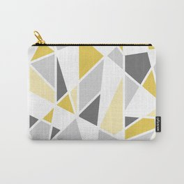 Geometric Pattern in yellow and gray Carry-All Pouch