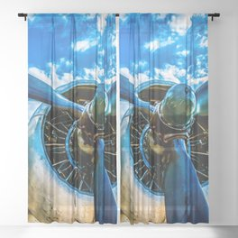 Aviation forever Sheer Curtain