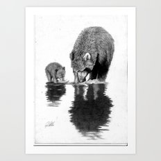 First Fishing Lesson Art Print