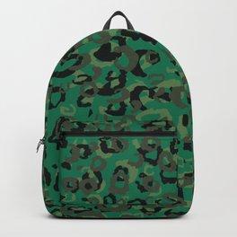 Emerald Leopard Backpack