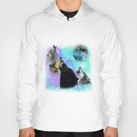 coven Hoodies featuring Wolves Coven Emeral night 2 by Jamie Fontaine