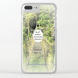 Psalm 46:10 Clear iPhone Case