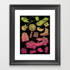 Artifacts: Back to the Future Framed Art Print