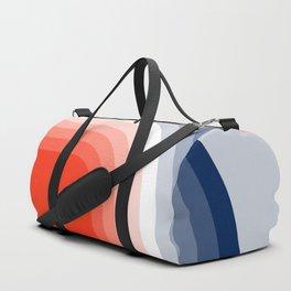 70s Stripes Rainbow Duffle Bag