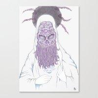 cthulu Canvas Prints featuring Cthulu Invades Spirituality Part 3 by radixrising