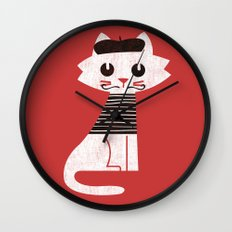 Mark the cat goes to Paris Wall Clock