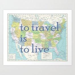 Travel United States of America Art Print