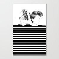 tegan and sara Canvas Prints featuring Tegan & Sara by MeMRB