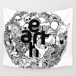 Earth with Art Wall Tapestry